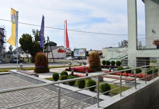 Zagospodarowanie terenu przed budynkiem Urzędu Gminy Cisek